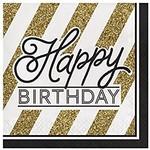 Glittering Black and Gold Birthday!