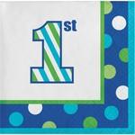 Luncheon Napkins-1st Birthday Sweet Stripes Boy-Final Sale