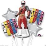 Foil Balloons-5pc Bouquet-Power Rangers