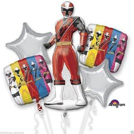 Foil Balloons-5pc Bouquet-Power Rangers