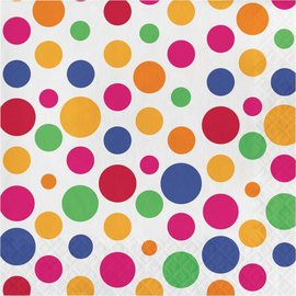 Lunch Napkins- Party Dots- 16pk/2ply