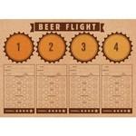 Placemats-Beer Flight-Cheers and Beers-24 Count