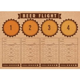 Placemats-Beer Flight-Cheers and Beers-24 Count