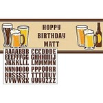 """Giant Party Banner-Cheers and Beers-Customizable-20"""" x 60""""-1 Count"""