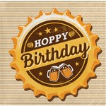 Napkins - BV - Beers and Cheers Hoppy Birthday - 16pkg - 2ply