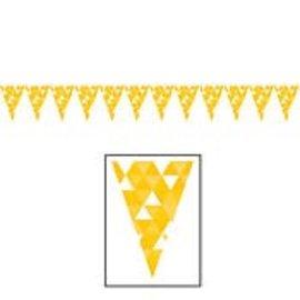 Banner-School Bus Yellow Fractal