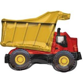 """Foil Balloon - Dump Truck-32""""x25"""""""