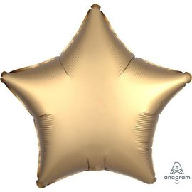"Foil Balloon - Gold Satin - Luxe Star - 18"""