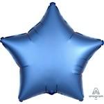 """Foil Balloon - Azure - Satin Luxe Star - 18"""""""
