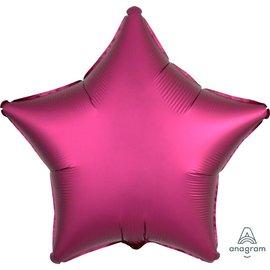 "Foil Balloon - Pomegranate Satin Luxe Star 18"""