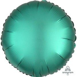 """Foil Balloon - Jade Satin Luxe - Round - 17"""""""