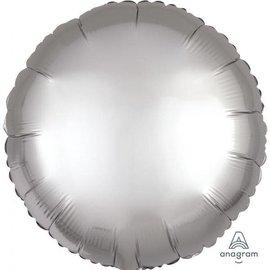 "Foil Balloon -  Platinum  - Satin Luxe Round - 18"""