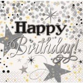 Napkins Bev - Glittering Birthday