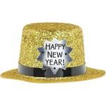 Mini Top Hat - Happy New Year Gold