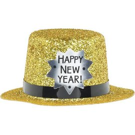 Mini Top Hat - Happy New Year Gold