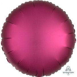 Foil Balloon - Pomegranate - Luxe Round - 17""