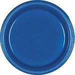 "Plastic Plates 20pc Bright Royal Blue 9"""