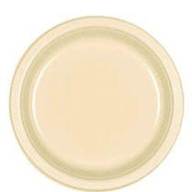 "Plastic Plates 20pc Vanilla Creme 9"""