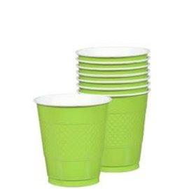 Cups Plastic Kiwi 16oz. (20 pk)