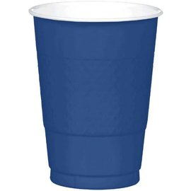 Cups Plastic Navy Flag Blue 16oz. (20 pk)