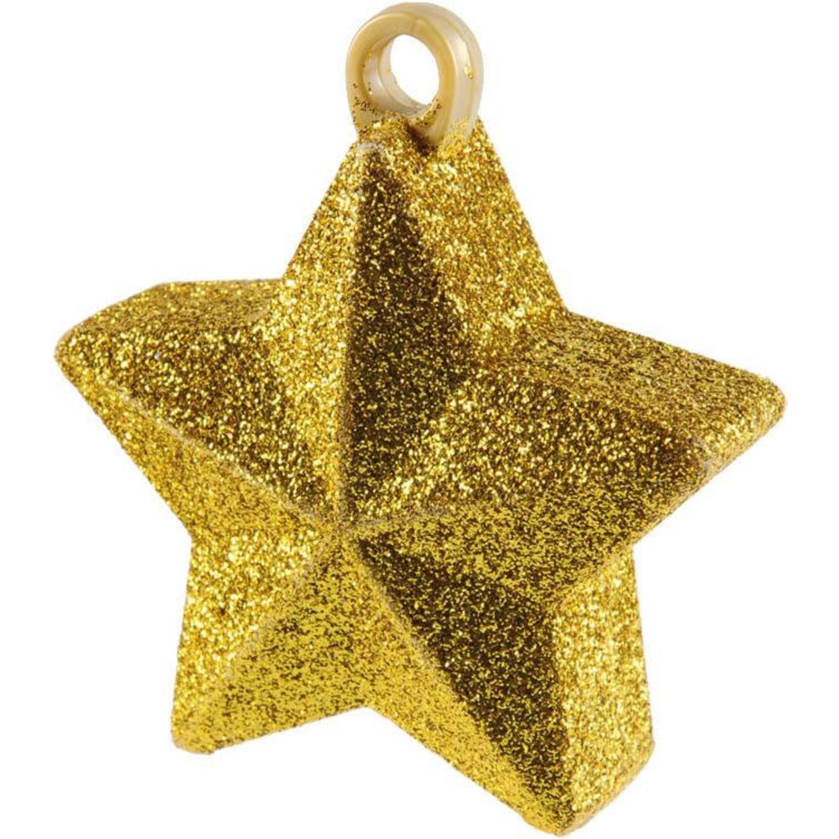 Balloon Weight-Glitter Star-Gold-6oz