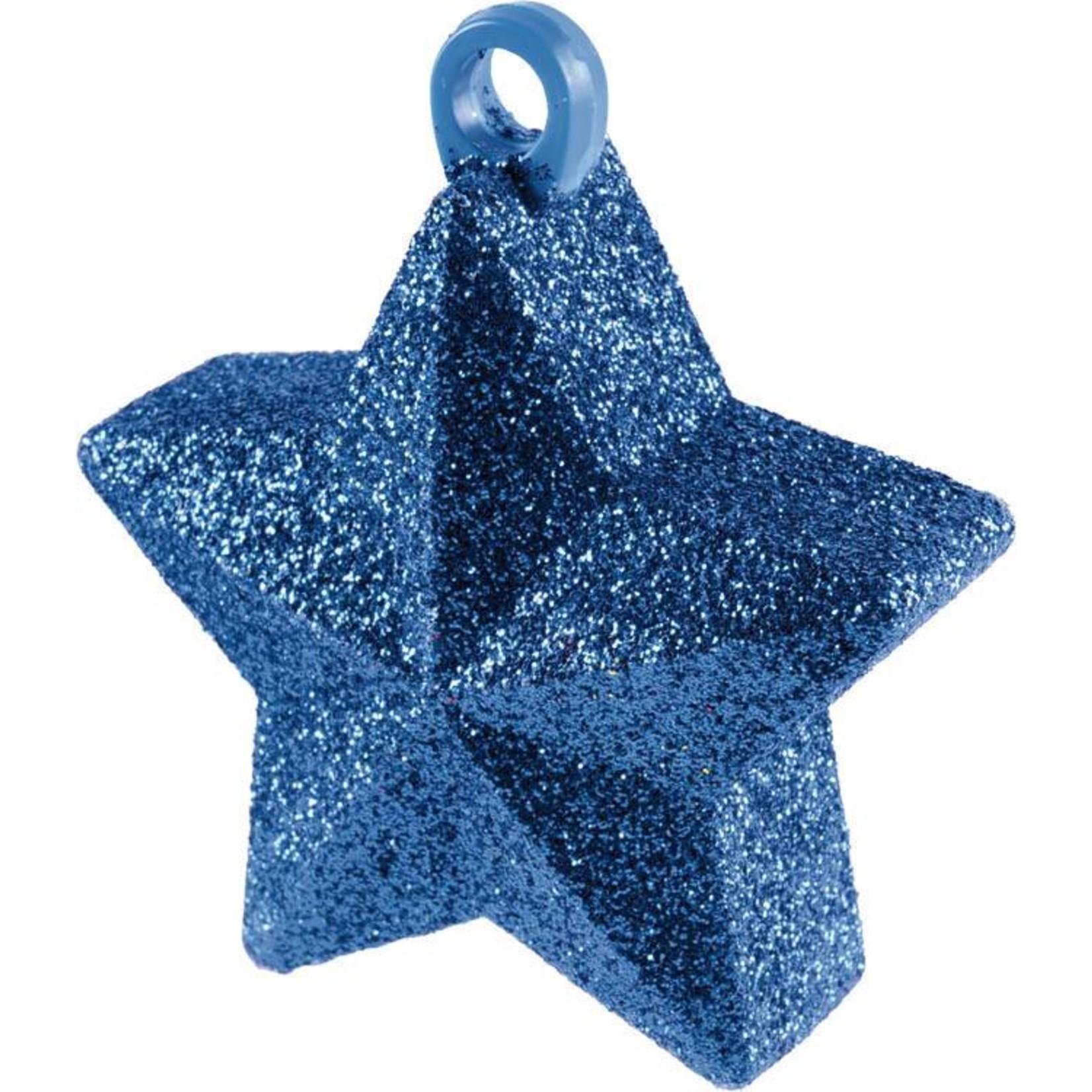 Balloon Weight-Glitter Star-Blue-6oz