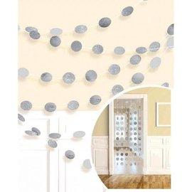 Garland - Silver Glitter Dots-6pcs