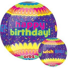 Foil Balloon - Happy Birthday Orbz