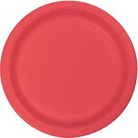 Paper Plates 24pc Coral (Discontinued) 6 7/8""