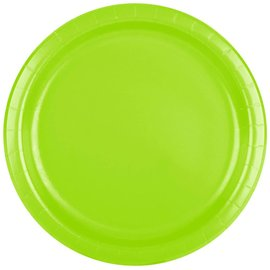 Plates LN- 24pc Fresh Lime 9in
