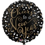 """Foil Balloon - Cheers to a New Year - 18"""""""