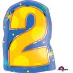 "Foil Balloon - #2 Streamers - 14x20"""
