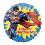 "Foil Balloon - Happy Birthday Superman - 18"""