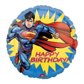 Foil Balloon - Happy Birthday Superman - 18""