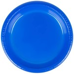 "Lunch Plastic Plate - Cobalt Blue 20/9"""