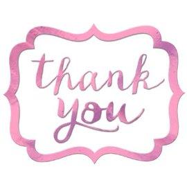 Stickers-Thank You-Light Pink-50pcs