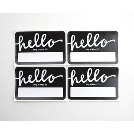 Name Tags - Black Hello my name is