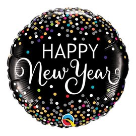 Foil Balloon - Happy New Years Dots - 18""