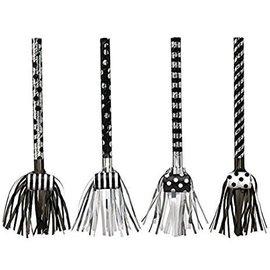 Metallic Blowouts - Black and White - 8 pk