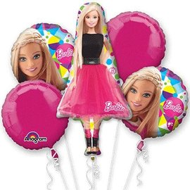 Foil Balloon - Barbie Bouquet - 5 pk