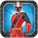 Plates-LN-Square-Power Rangers Ninja Steel-8pk-Paper