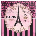 """Day in Paris Square Plates- 7""""- Discontinued"""