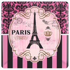 "Day in Paris Square Plates- 7""- Discontinued"
