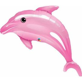Foil Balloon-Supershape-Pink Dolphin