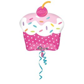"Foil Balloon - Cupcake 19"" x 28"""