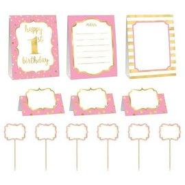 Kit - Buffet Decor 1st Bday Pink