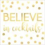 """Napkins BEV - """"Believe In Cocktails"""" Gold"""