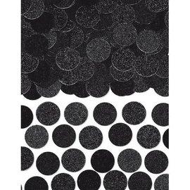 Confetti - Black Glitter & Foil Circle 2.25