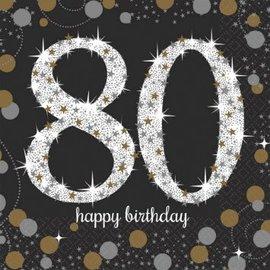 Napkins Bev - Sparkling Celebration 80th