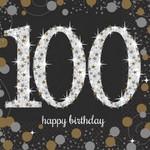 Beverage Napkins-Sparkling Celebration 100th